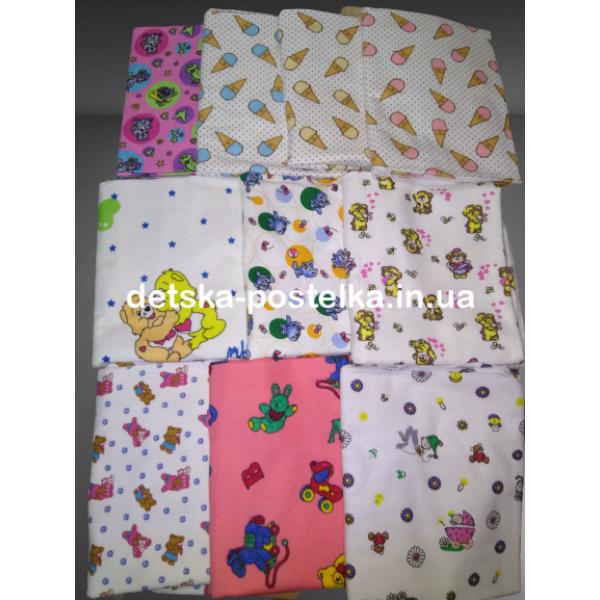 Набор 10 шт.пеленки байковые  110*90 см, цвет в ассортименте