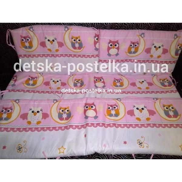 Защита в кроватку(бортики толстенькие) на молниях Польская бязь