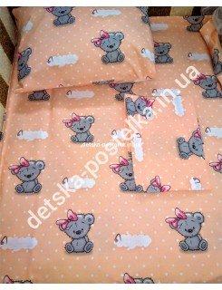 Детское постельное бельё,набор в кроватку(простынь на резинке)